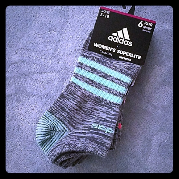 b6259b20ff adidas Accessories | Womens Superlite Compression No Show Socks ...